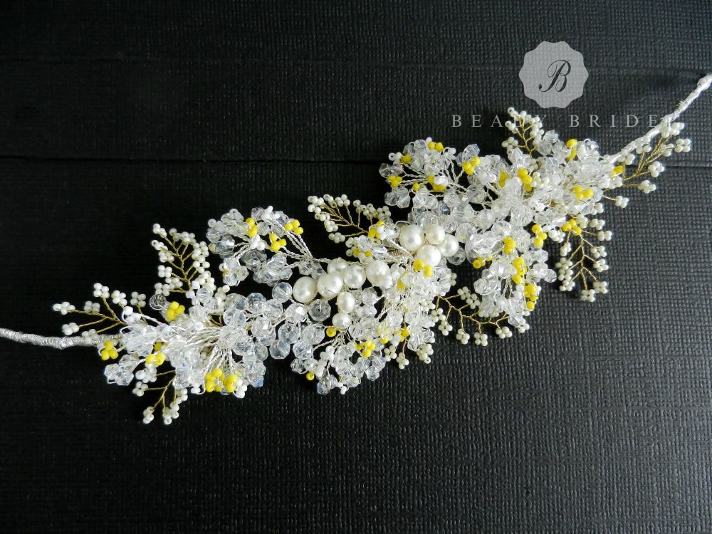 Lily-Wedding-bridal hair accessory by Beady Bride-UK (1)