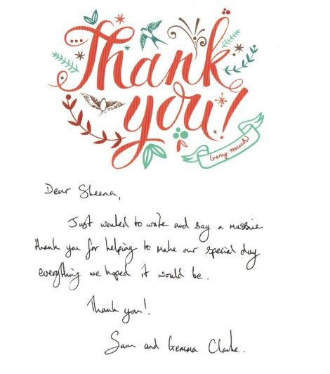 Thank you card 2017 Gemma clark