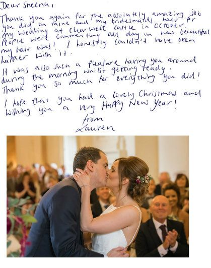 Thank you card 2017 lauren and mike