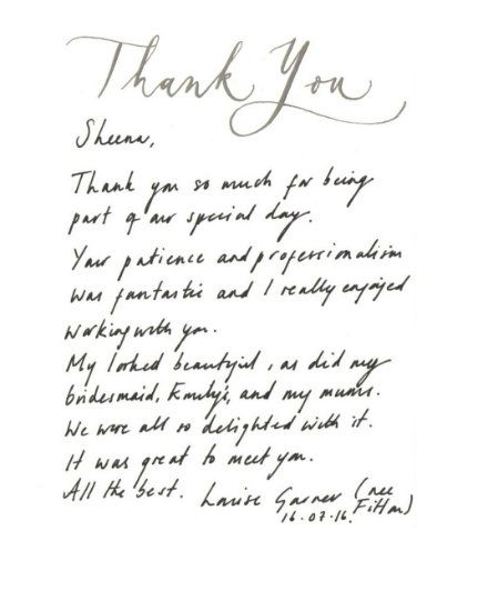 Thank you card 2017 Louise garner