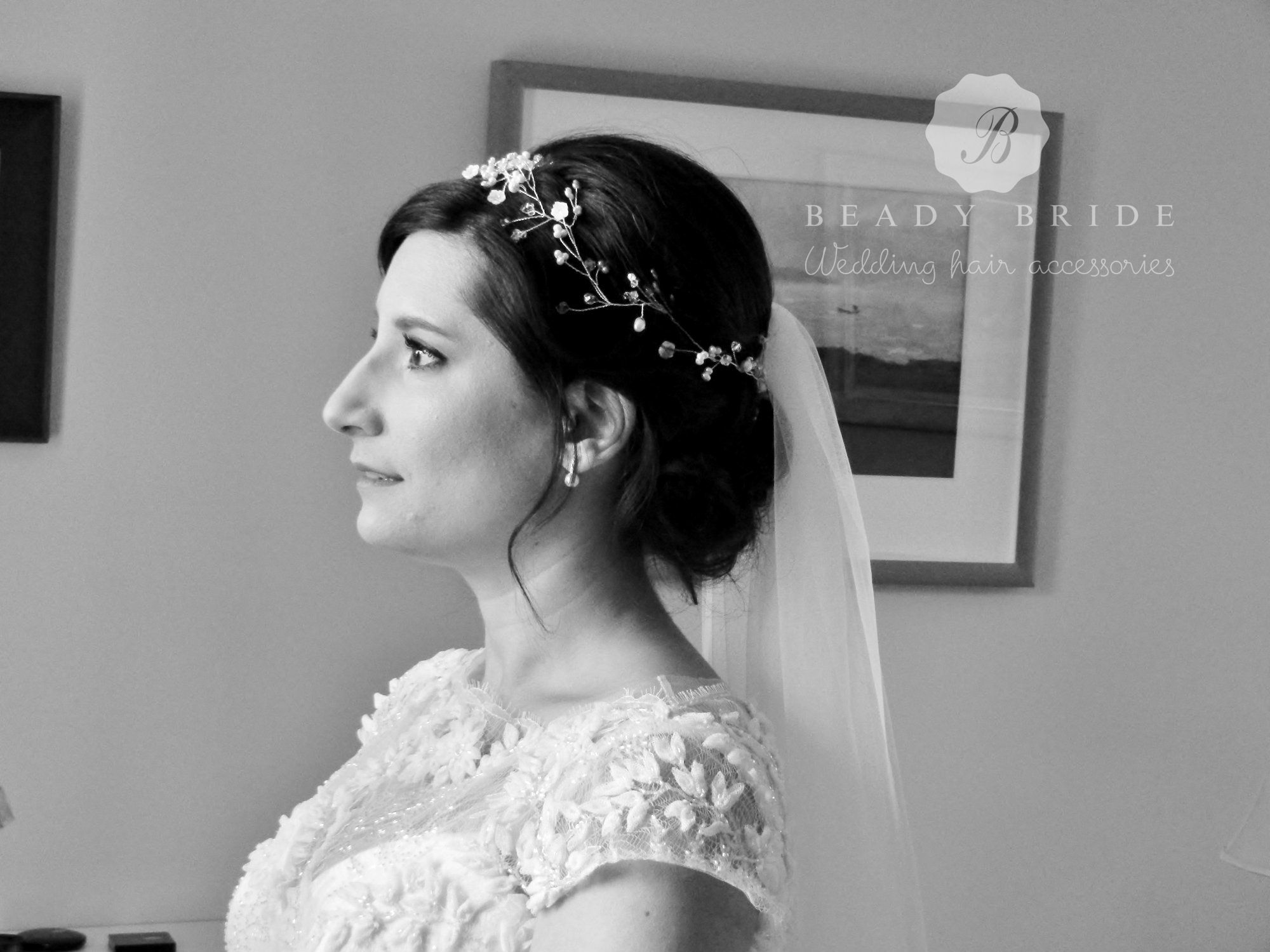Pretty bridal and wedding hair vne accessories-Gloucestershire-UK