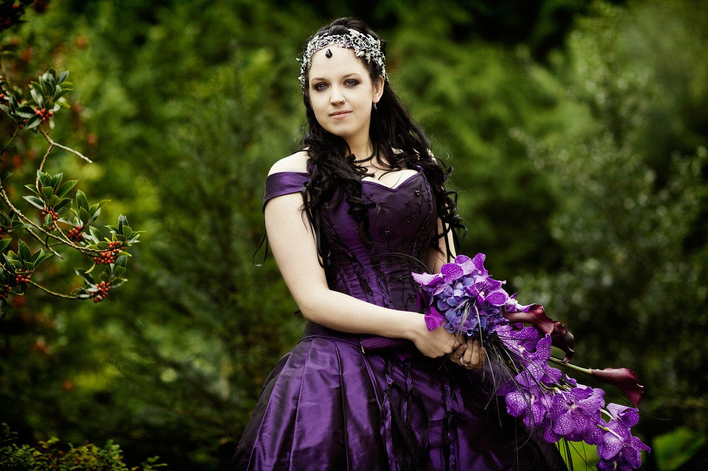 Gothic wedding- Gloucestershire-hair stylist-TV-201