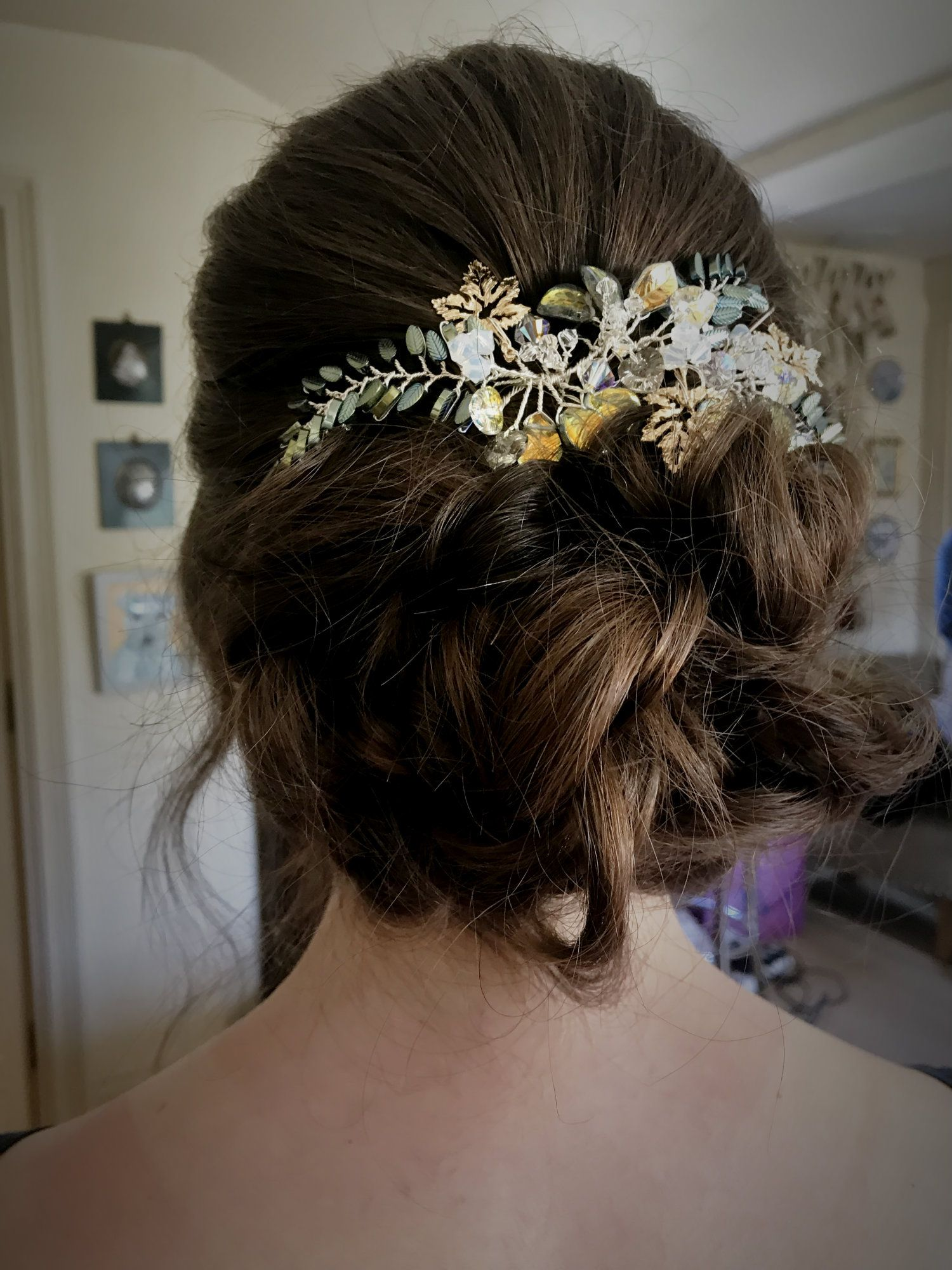 Floral-bohemian-green-Autumnal-Golden-Summer-wedding-Hair-Accessory-UK-SFIA