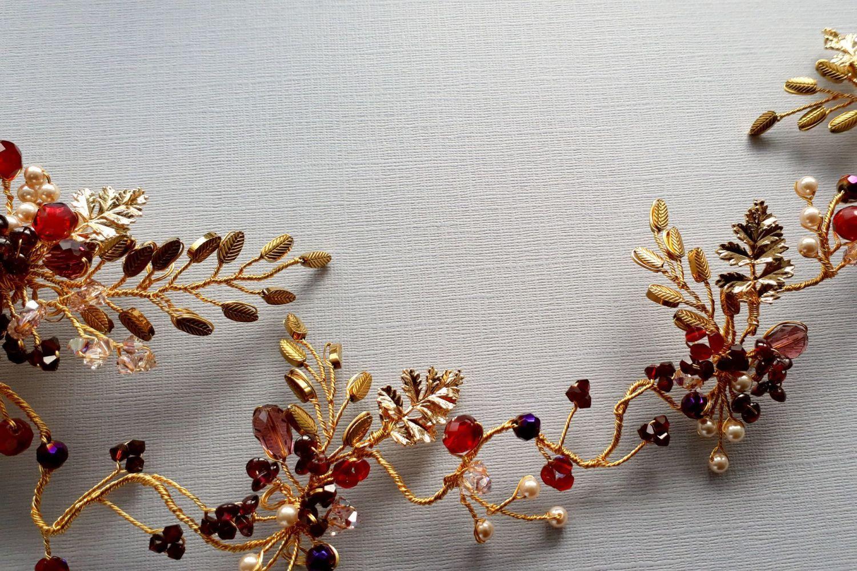 SARA-0A-BBS-Abigail-Beady Bride`s signature floral head piece 2