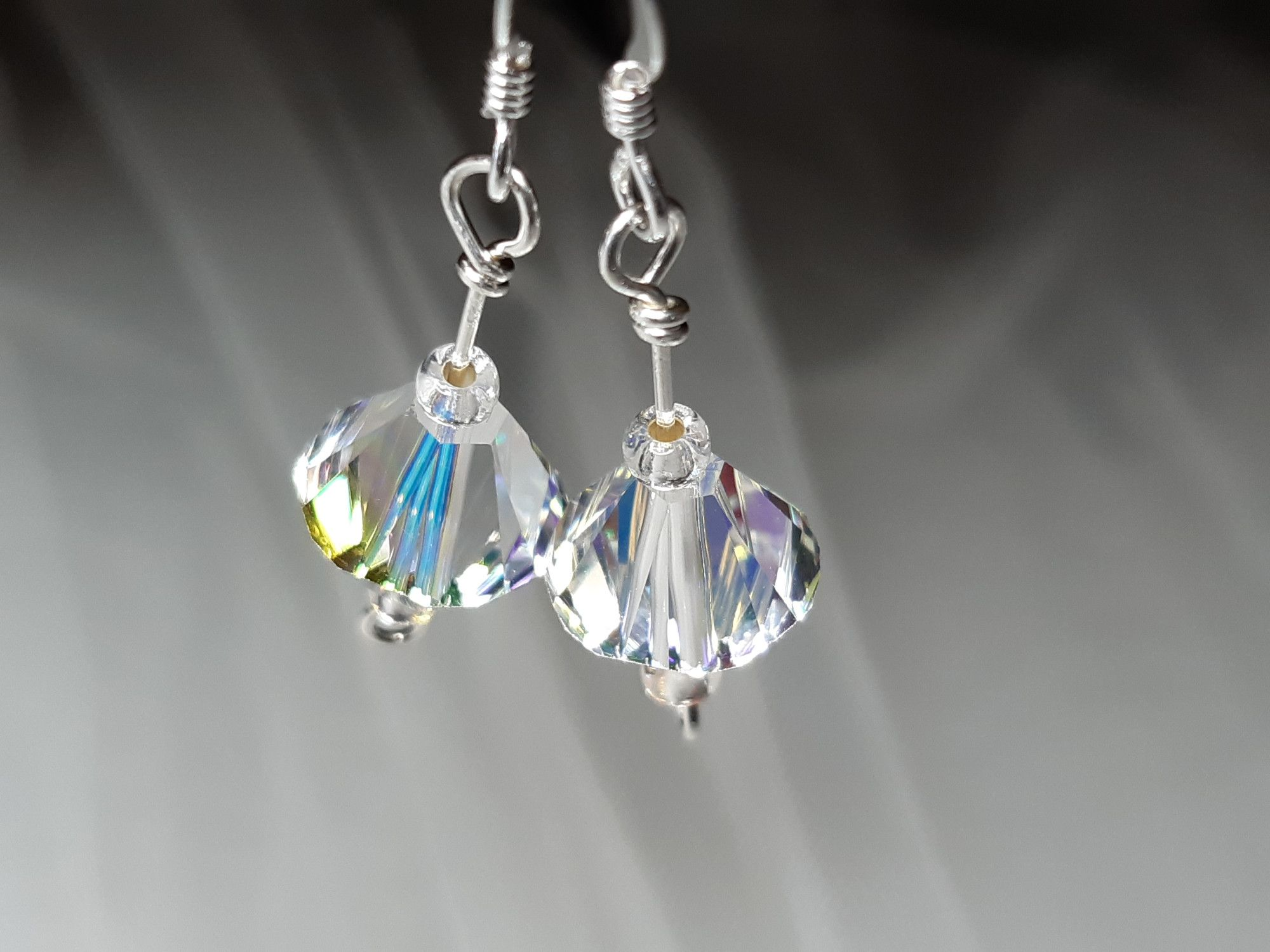 Occasion-wedding-swarovski crystal+sterling silver earrings-5