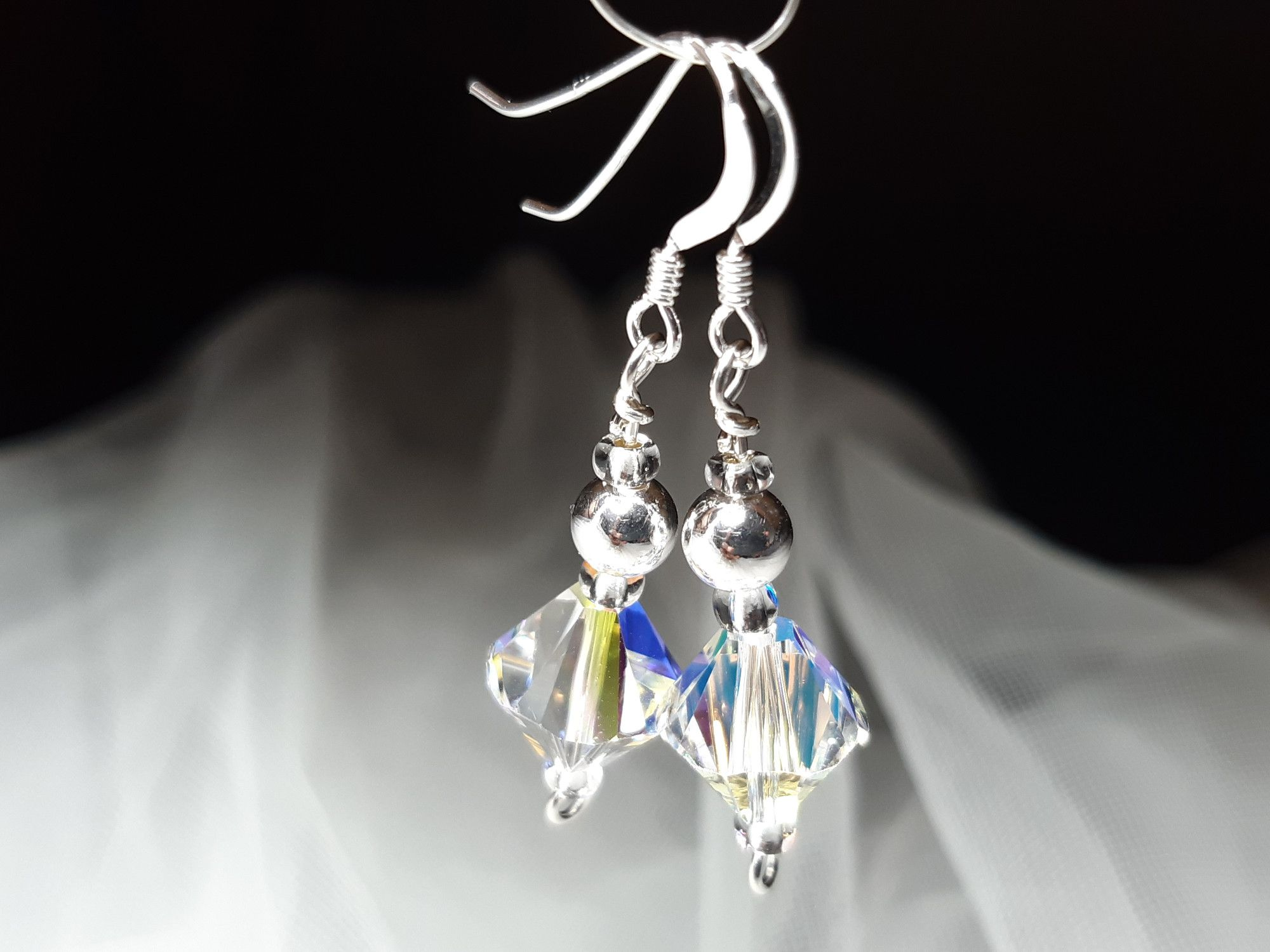 Occasion-bridal-wedding-swarovski crystal+sterling silver earrings-3