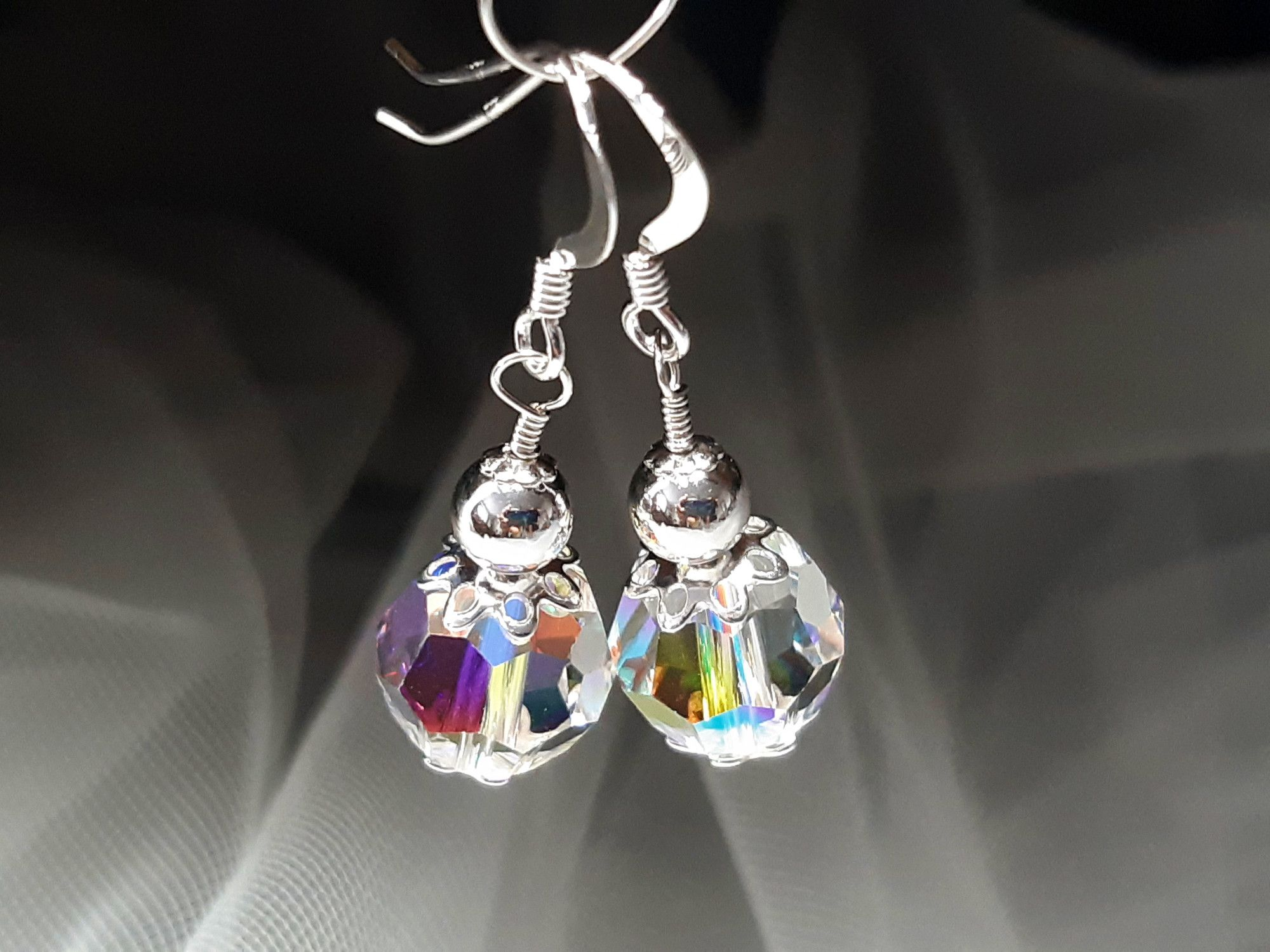 Occasion-bridal-earrings with swarovski crystal+sterling silver-11