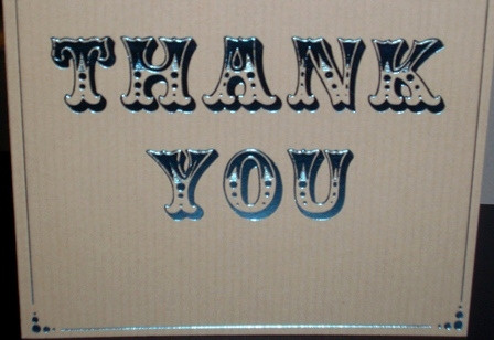 thank you card carla out