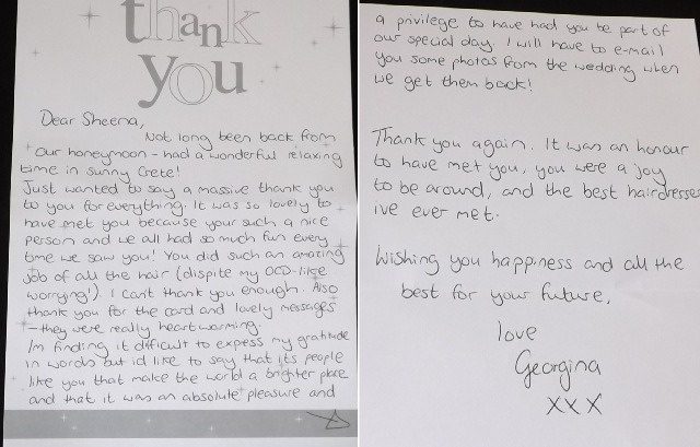 thank you letter georgina