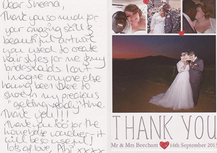 t-thank you card  abi beecham