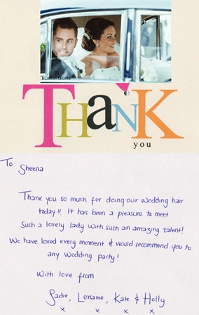 t-thank you card  sadie trout