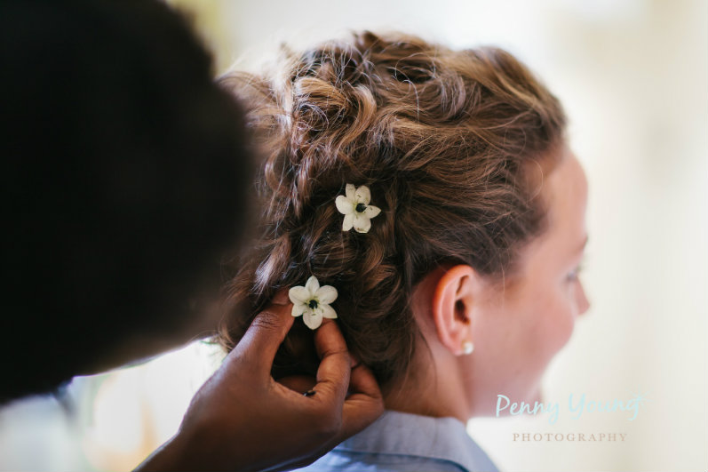 Sheenasweddinghairstyles-Bridal-wedding-hair-stylist-at-The Rectory-Crudwell-cotswolds-image by Penny Young photography