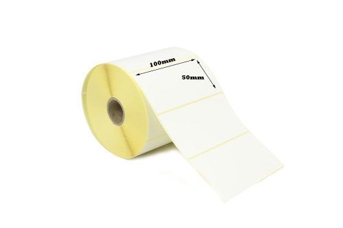 100 x 50mm Direct Thermal Labels 50,000 Labels)