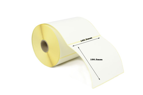 100.5mm x 100.5mm Thermal Transfer Labels with Perforations (50,000 Labels)