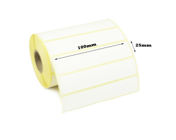 100 x 25mm Direct Thermal Labels (10,000 Labels)