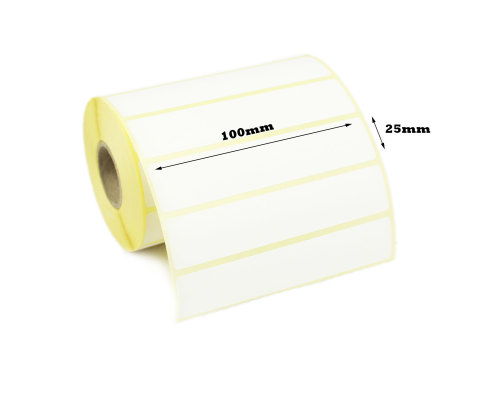 100 x 25mm Direct Thermal Labels (50,000 Labels)