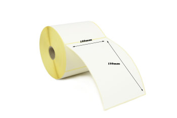 100x150mm Direct Thermal Top Coated Labels with Perforations (50,000 Labels)