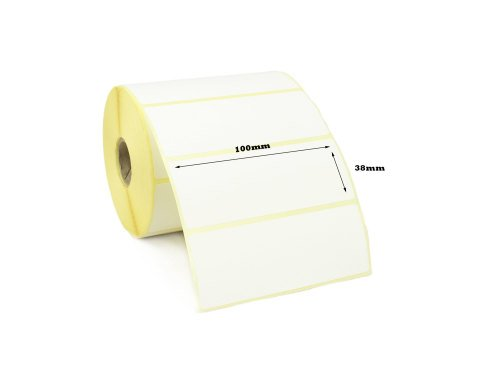 100x38mm Direct Thermal Top Coated Labels (20,000 Labels)