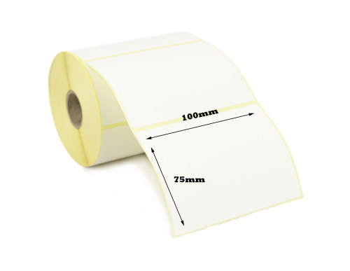 100x75mm Direct Thermal Top Coated Labels (10,000 Labels)