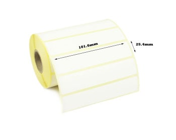 101.6 x 25.4mm Direct Thermal Labels (20,000 Labels)
