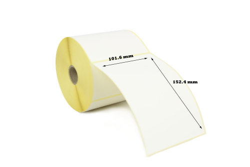 101.6mm x 152.4mm Thermal Transfer Labels with Perforations (50,000 Labels)