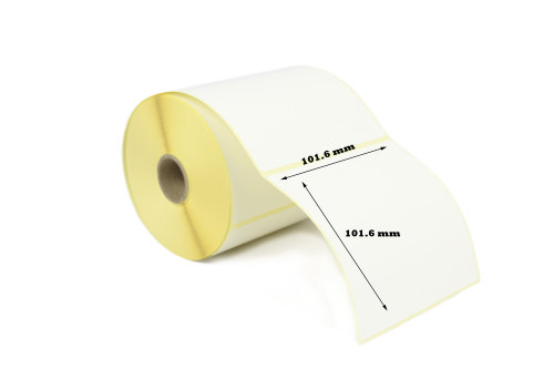 101.6x101.6mm Direct Thermal Top Coated Labels (10,000 Labels)