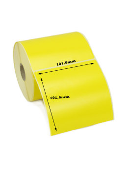 101.6x101.6mm Yellow Direct Thermal Labels (5,000 Labels)