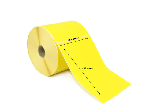 101.6x152.4mm Yellow Thermal Trasnfer Labels (5,000 Labels)