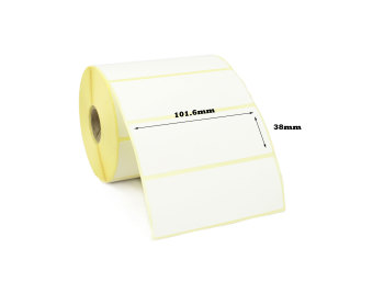 101.6x38mm Direct Thermal Top Coated Labels (10,000 Labels)
