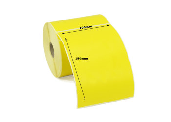 100 x 150mm Yellow Direct Thermal Labels (1,250 Labels)