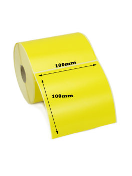 100x100mm Yellow Direct Thermal Labels (5,000 Labels)