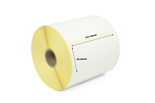 101.6x50.8mm Direct Thermal Top Coated Labels (5,000 Labels)