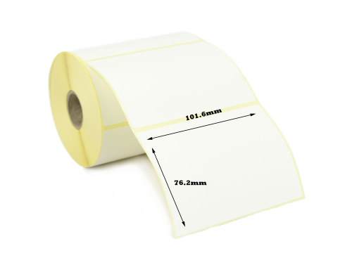 101.6x76.2mm Direct Thermal Top Coated Labels (2,000 Labels)