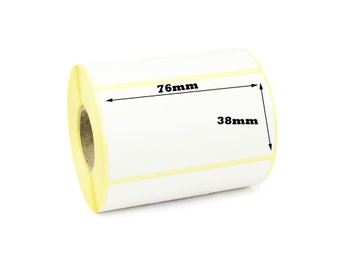 76 x 38mm Direct Thermal Labels (15,000)