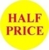 Promotional Labels 'Half Price' - 1000 Labels