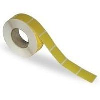 Yellow Circular Thermal Transfer Labels