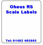 Ohaus RS Scale Labels