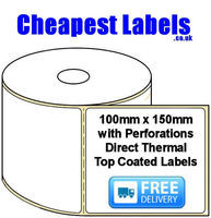 100x150mm Direct Thermal Top Coated Labels (Perf)