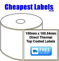 150x100.54mm Direct Thermal Top Coated Labels