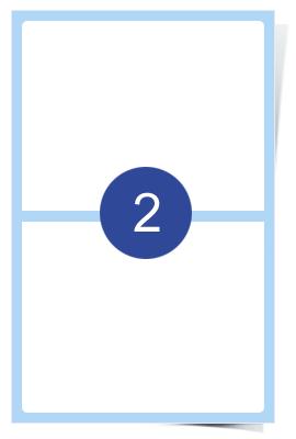 A4 Laser Sheets - 2 Label Per Sheet - 100 Sheets Per Box