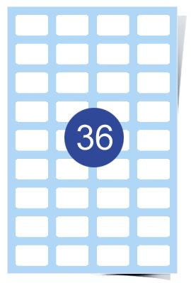 A4 Laser Sheets - 36 Label Per Sheet - 200 Sheets Per Box