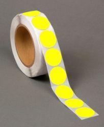 31.75mm Diameter Yellow Thermal Transfer Labels (5,000 Labels)