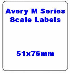 51 x 76mm Avery M Series Compatible Thermal Scale Labels (20 Rolls / 10,000