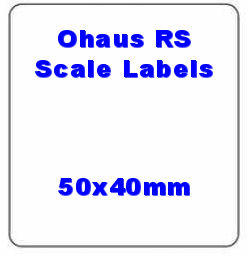 50 x 40mm Ohaus Compatible Thermal Scale Labels (10 Rolls / 5,000 Labels)
