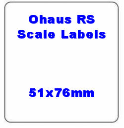 51 x 76mm Ohaus Compatible Thermal Scale Labels (20 Rolls / 10,000 Labels)