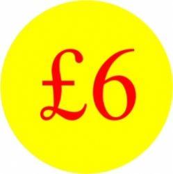 Circular '£6' Promotional Labels - 1000 Labels