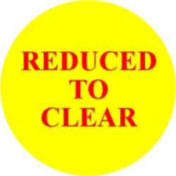 Promotional Labels 'Reduced To Clear' - 1000 Labels