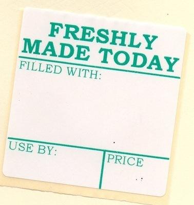 60mm x 60mm Printed Sandwich Labels