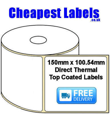 150x100.54mm Direct Thermal Top Coated Labels (20,000 Labels)