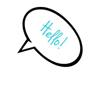 hello speech bubble